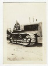 Vintage Photo Man Sitting On Construction Truck 1940's DST22