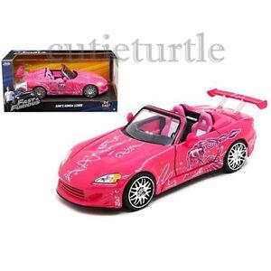 Jada Fast and Furious Suki's Honda S2000 1:24 Diecast Model Car 97604 Pink