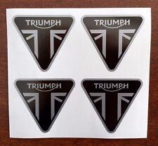 TRIUMPH Triangle DECALS STICKERS ★ 4 PACK ★ Bonneville Thruxton Rocket III Tiger