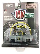 M2 Machines Auto Drivers Hays 1956 56 Ford F-100 Pickup Truck Gray Diecast 1/64