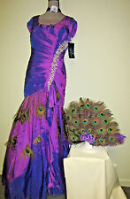 PEACOCK fairy dress COSTUME size 12 unique hand made cosplay Halloween OOAK