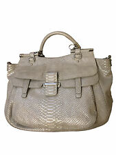 NEW Coach Madison Satchel Embossed Silver Metallic Leather *Limited Edition!*