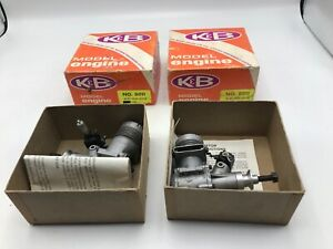 Lot of 2 Vintage K&B No. 8011 Torpedo .40 R/C Model Engines in Boxes - Untested