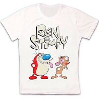 Ren And Stimpy Funny Cool Poster Retro Vintage Hipster Unisex T Shirt 1622
