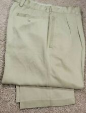 TOMMY BAHAMA-Khaki 100% Silk Twill, Mens Pleated, Casual Summer Pants-(33x30)