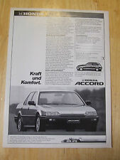 HONDA ACCORD GERMAN POSTER ADVERT READY TO FRAME A4 SIZE