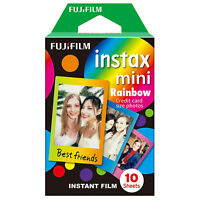 10 Sheets Fujifilm Fuji Instax Paper Rainbow Film For Mini 8 7 9 50s 7s 90 SP-1