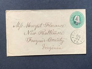 1870s ALEXANDRIA VA FANCY CANCEL ! NEW BALTIMORE FAUQUIER ! FLORENCE COVER PSE !