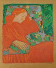 Lithografie Claudia Steine - Lady in Red II