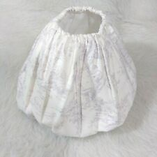 Nursery Toile White Purple Small Lamp Lampshade Cover