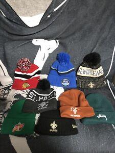 Assorted Streetwear beanies Headwear New Era Mitchell & Ness NBA NFL NHL Stussy