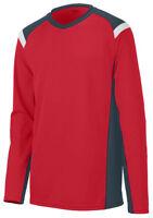 Augusta Sportswear Men's New V Neck Polyester Long Sleeve Jersey T-Shirt. 2506