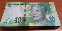 South Africa R10 banknote Nelson Mandela 2012 money UNC x 1/4 Bundle 25 Notes