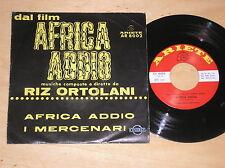 """RIZ ORTOLANI - AFRICA ADDIO / I MERCENARI - 45 GIRI 7"""" ITALY"""
