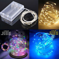2X 20//50/100 LED Battery Micro Rice Wire Copper Fairy String Lights Party white