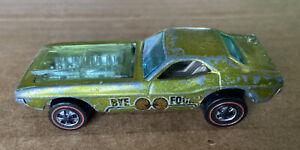 1970 Hot Wheels Redline BYE-FOCAL Green Complete Intact Nice Roller