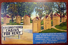 Postcard Battery A 12th Battalion Fort Eustis VA Air Conditioned Outhouse 2415