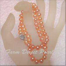 18 Inch AAA Peach 9-10mm Pearl Necklace Cultured Freshwater Women Jewelry