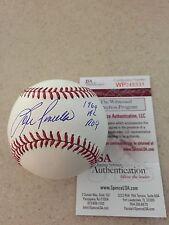 """Lou Piniella Autographed Signed MLB Baseball1969 AL ROY"""" JSA WP COA Nice #2"""