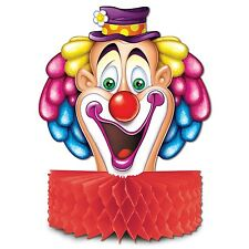 CIRCUS Honeycomb FUNNY CLOWN CENTERPIECE Carnival Party Decoration