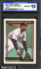 New listing 1992 Topps Traded Gold #105T Gary Sheffield San Diego Padres ISA 10 GEM MINT