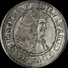 1674 6K KREUZER GERMANY Wurttemberg-Oels PCGS MS62 SP NONE FINER, FLASHY SILVER