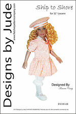 """Ship to Shore Doll Clothes Sewing Pattern for 11"""" Leeann Dolls"""