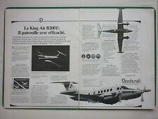 6/1984 PUB BEECHCRAFT KING AIR B200T AIRCRAFT AVION FLUGZEUG ORIGINAL FRENCH AD