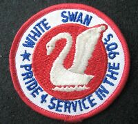 WHITE SWAN EMBROIDERED SEW ON PATCH LAUNDRY UNIFORM RENTAL ADVERTISING