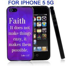 Religious Faith Scripture For Iphone5 5G Case Cover