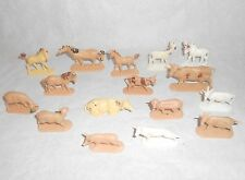 Lot 16 anciennes figurines JAN W.GERMANY animaux de la ferme jouet vintage