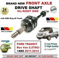 Pour Ford Transit Box Van 2.2TDCi + ABS 2011-2014 Neuf Essieu avant Droit Arbre