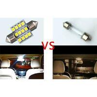 White 12V LED Interior Map Dome Trunk Lights 31mm Festoon Bulbs New K8Y6 H4P3