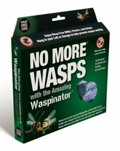 WASPINATOR 'NO MORE WASPS' WASP REPELLENT CHEMICAL FREE DETERRENT *TWIN PACK*