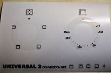 Universal 2 convection oven facia stickers for worn fronts, fits Lamona HJA3200