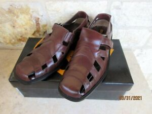 Stacy Adams Melrose Men's Brown Closed Toe Leather Fisherman Sandals 9 1/2 M