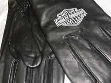 "Harley-Davidson ""Spectra"" Canretta Leather Gloves Embroidered Logo Size: L"