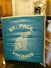 Vintage St Paul Vikings Seat Cushion Blue Highland Illinois Advertisement School