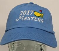 2017 Masters Golf Hat Cap American Needle 100% Cotton One Size Adjustable Blue