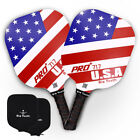USAPA Approved PickleBall Paddle Graphite Racket Honeycomb Core USA with Cover