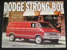 1971 Dodge Fargo Tradesman Van Catalog Sales Brochure