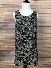 Forever 21 women's dress Sz S Black & Beige Sexy Full Zipper back! Polyester, A6