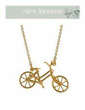 BNIB ALEX MONROE 22ct GP sterling silver diamond & ruby VINTAGE BICYCLE necklace