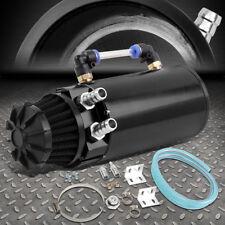 Aluminum Oil Catch Can Reservoir Tank W/Breather Filter Baffled Universal Black