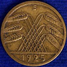 5 REICHSPFENNIG 1925 E GERMANIA WEIMAR #129A