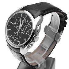 Nuevo Tissot Couturier Negro Cuero Cronógrafo T035.617.16.051.00