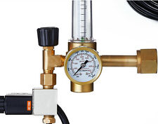 Hydroponics Accessory CO2 Pressure Flow Regulator with a Solenoid Valve