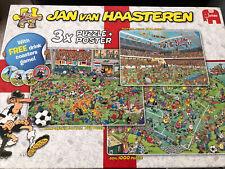 Jan Van Haasteren 3 Football Jigsaws, 1x 1000, 1x750, 1x500 Pieces   Complete