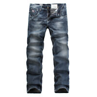 FOX JEANS Men's Norton Regular Fit Straight Blue Denim Jeans SIZE 32