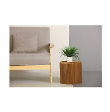 Medium Occasional Table & Clear Top by Paper Lounge - Portable Concertina Design